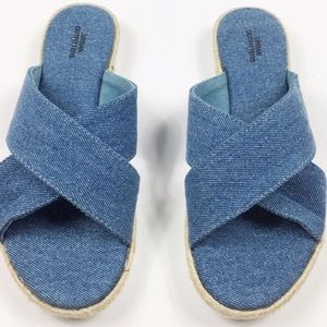 Urban Outfitters Strappy Denim Slides
